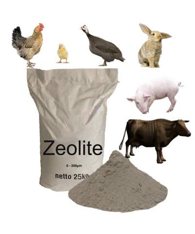 0 - 200μm Zeolite per zootecnia allevamento di animali 25kg