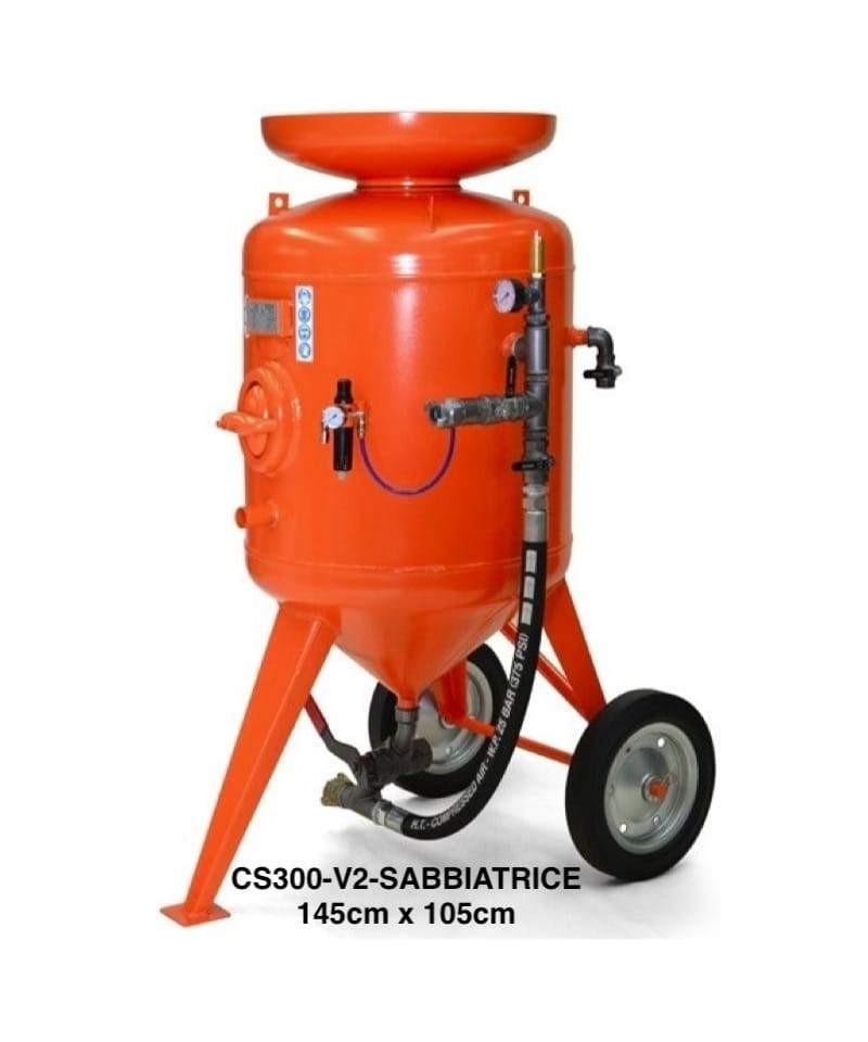 300 Litri Sabbiatrice a getto libero, massimo pressione: 12 bar-1.