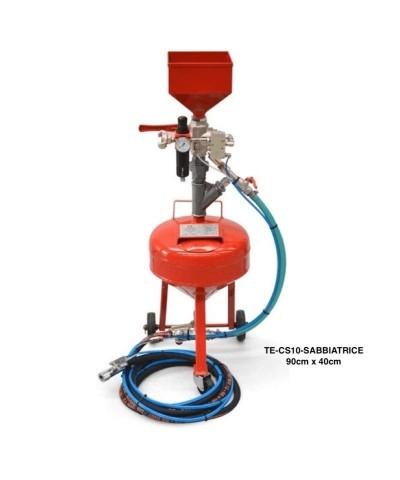 10 litres Sableuse à jet libre, pression maximale: 0,2 - 7 bar