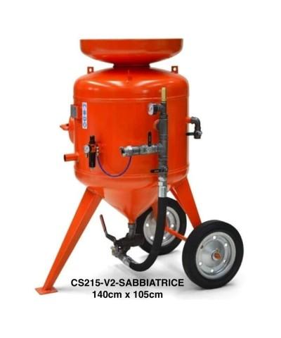 215 Liter Freistrahl-Sandstrahlmaschine, maximaler Druck: 12 bar