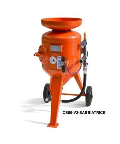 Sabbiatrice a getto libero - Casco aerato M06 - 8 bar - 60 Litri