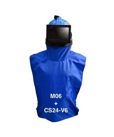 24 litres Sableuse à jet libre avec casque aéré M06 - 7bar-2.