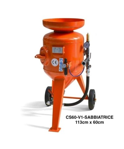 Sabbiatrice a getto libero - pressione massima 8 bar - 60 litri
