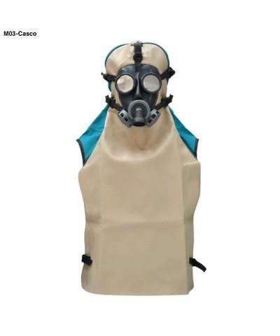M03 Casco aerato di protezione con semi-maschera in gomma regolabile-1.