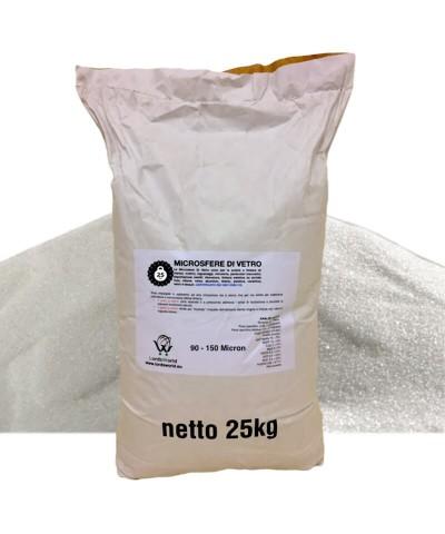 Microsfere di vetro - 90 - 150µm Sabbia abrasive per sabbiatura 25Kg