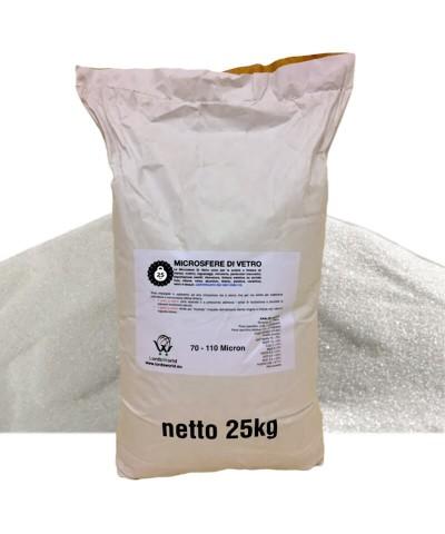 Glasmikrokugeln - 70 - 110µm Schleifsand zum Sandstrahlen 25Kg