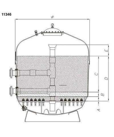 (11346) 3.0-5.0Mm Cuarzo grava para filtros de arena 25Kg-3.