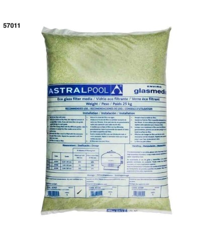Active glass 0,5 - 1,0Mm for pools sand filters 25Kg - 57011 AstralPool - 1