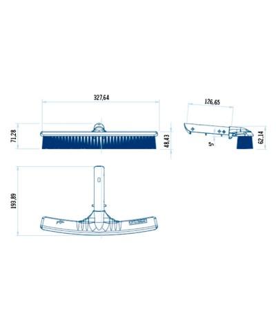 Spazzola da 33cm per pulizia delle pareti delle piscine SERIE SHARK AstralPool - 2
