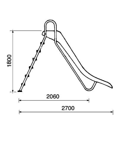 Toboggan slides for pools - straight model BERMUDA Height 1,8m - 00082 AstralPool - 2