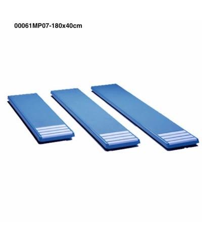 00061MP07 Planche de trampoline blanche 180x40cm