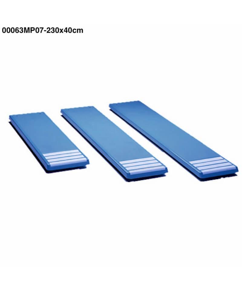 00063MP07 Planche de trampoline couleur blanche 230 x 40cm-1.