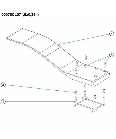 Elastic pool trampoline - Dolphin model - White color - 00076CL07 AstralPool - 3