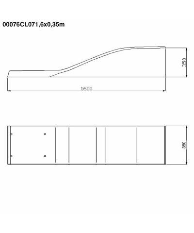 00076CL07 Elastisches Trampolin Delphin Modell Elfenbein 1,6x0,35m-4.