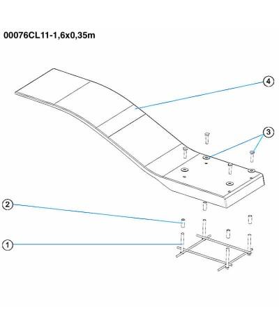 Elastisches Pooltrampolin - Delphinmodell - Elfenbeinfarbe - 00076CL11 AstralPool - 3