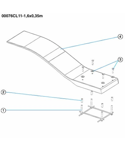 Trampolino elastico per piscina - Modello Dolphin - avorio - 00076CL11 AstralPool - 3