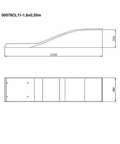 00076CL11 Trampolino Elastico modello delfino colore bianco 1,6x0,35m-4.