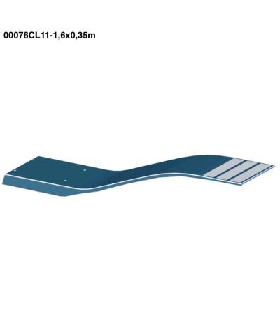 00076CL11 Trampolino Elastico modello delfino colore bianco 1,6x0,35m