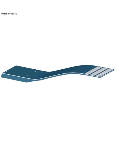 00076 Elastic Trampoline dolphin model sky blue color 1.6x0.35cm-1.