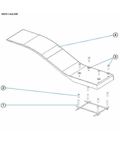 Trampolino elastico per piscina - Modello Dolphin - celeste - 00076 AstralPool - 3