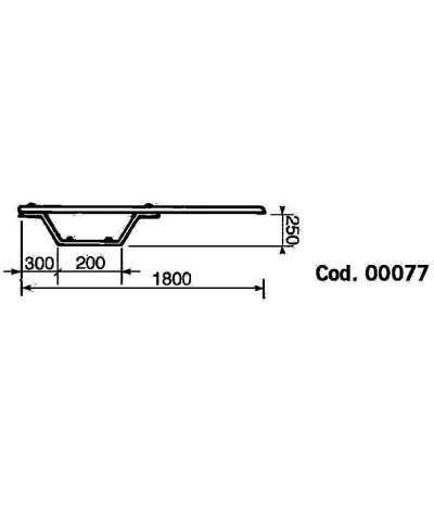 00077 Trampolín y tabla BALESTRA modelo 180x25x40cm-2.