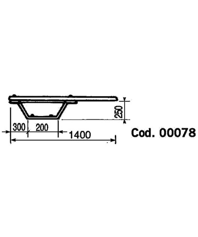Tavola trampolino da piscina - modello balestra 140 x 25 x 40cm 00078 AstralPool - 2