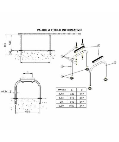 14586 Piattaforma di supporto per tavolo da trampolino AstralPool - 3