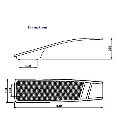 21392 Mesa trampolín dinámica y flexible de 161x46cm.-2.