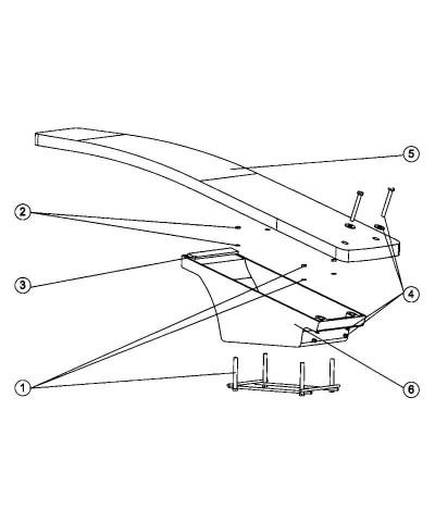 Table de trampoline flexible dynamique pour piscine 161 x 46cm - 21392 AstralPool - 4