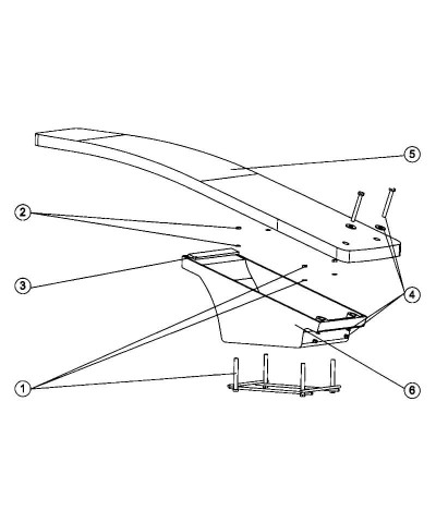 Tavola trampolino per piscine flessibile dinamico 161 x 46 cm - 21392 AstralPool - 4
