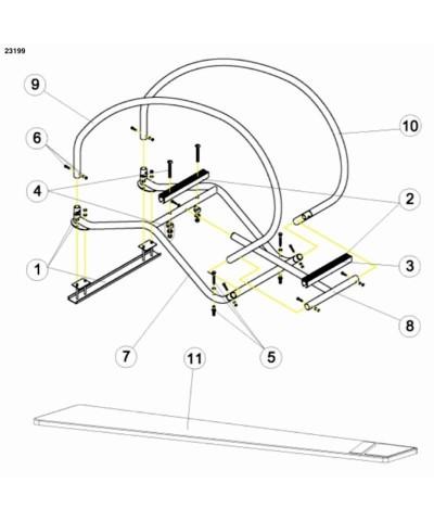 Schwimmbad dynamisch flexibel Trampolintisch 200 x 60 cm - 23199 AstralPool - 3
