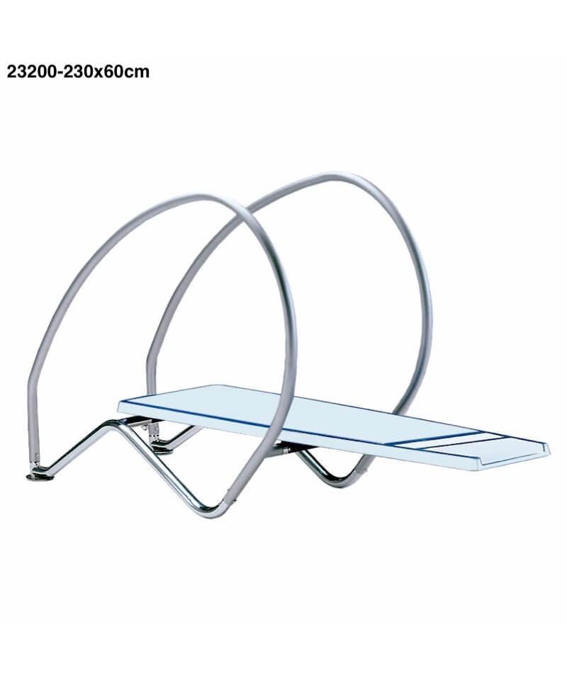 Mesa de trampolín flexible dinámica para piscina 230 x 60 cm - 23200 AstralPool - 1