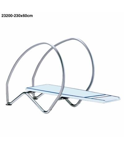 Mesa de trampolín flexible dinámica para piscina 230 x 60 cm - 23200