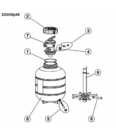 23343fp46 MILLENNIUM 0,50Ps Monoblock Sandfilter für Schwimmbad AstralPool - 3