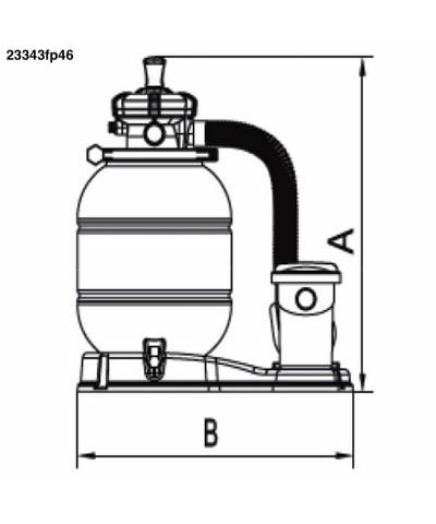 Sandfilter MILLENNIUM Monobloc 0,50Cv pour piscine - 23343FP46 AstralPool - 4