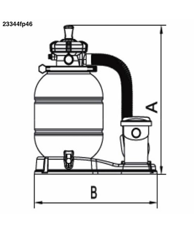 Filtro a sabbia per piscine 0,75cv - MILLENNIUM Monoblocco - 23344fp46 AstralPool - 4