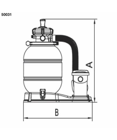 Sand filter Monobloc SAMOA 0,30 Hp for swimming pool - 50031 AstralPool - 2