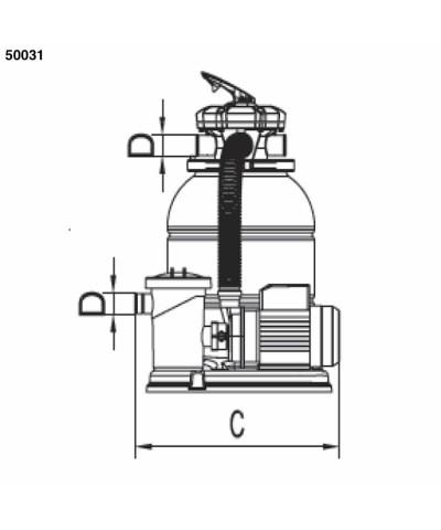 Filtre à sable Monobloc SAMOA 0,30Cv pour piscine - 50031 AstralPool - 3