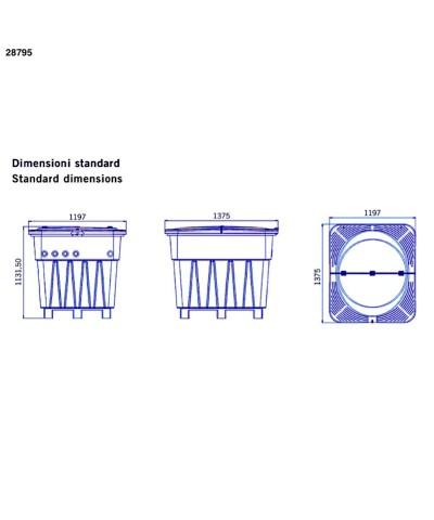 Kompaktes unterirdisches 0,75 PS Filtersystem KEOPS für Pools 28795 AstralPool - 5