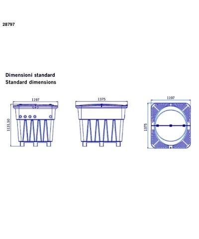 Sistema filtración subterránea de piscinas 1Hp KEOPS compact 28797 AstralPool - 5