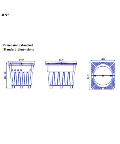 Kompaktes unterirdisches 1-PS-Filtersystem KEOPS für Pools 28795 AstralPool - 5