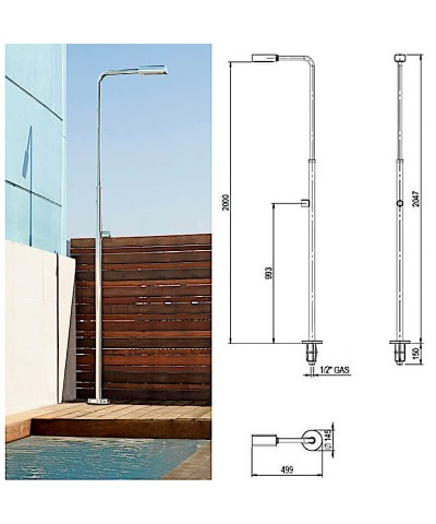 ANGEL Swimming pool shower with single tap and shower head - 52717 AstralPool - 1