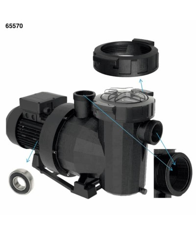 65570 VICTORIA plus silent filtration pump 3Hp three-phase AstralPool - 2