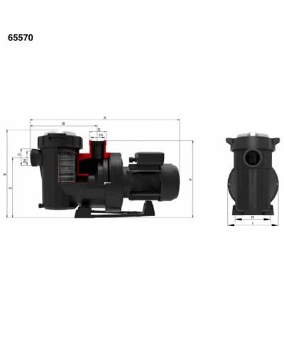 Pompa filtrazione piscina VICTORIA plus silent 3cv trifase - 65570 AstralPool - 4