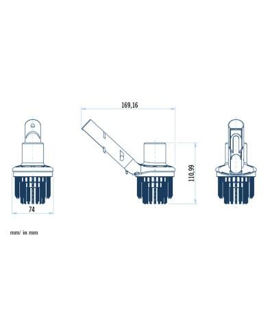 Spazzola aspirante per pulizia angoli piscina SERIE SHARK - 36617 AstralPool - 2
