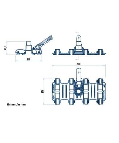 Aspirafango flessibile per pulizia fondo piscine SERIE SHARK - 36618 AstralPool - 2