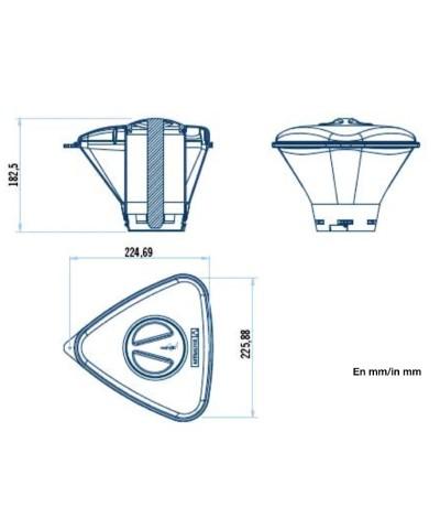 Distributore di cloro e bromo per piscina SERIE SHARK - 36620 AstralPool - 2