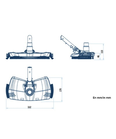 SHARK SERIES Oval mud vacuum cleaner for swimming pools - 40997 AstralPool - 2