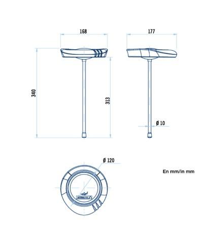 SERIE SHARK Termómetro analógico para piscinas.-2.