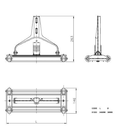 01353 Aspirateur en aluminium extrudé anodisé pour piscine-2.